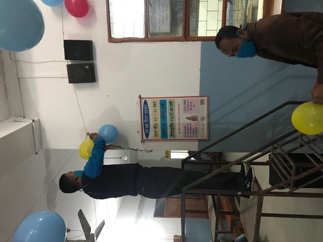 Ballonnen ophangen